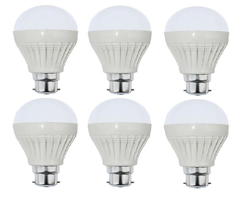 Buy Autorise 5 Watt Plastic LED Bulb(white) Pair Of 6 online