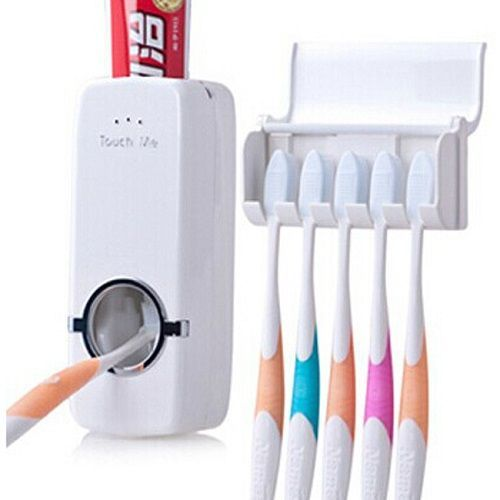 Buy Automatic Toothpaste Dispenser Squeezer Toothbrush Holder Bath Accessories online