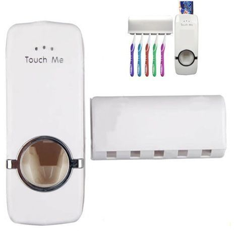 Buy Automatic Toothpaste Dispenser And Tooth Brush Holder Set online