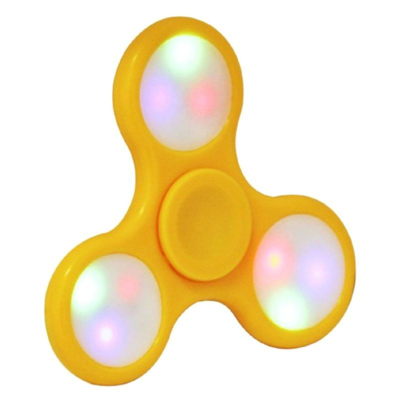 Buy Shopmefast Fidget Spinner With LED Light On/off Switch Control, Anti Stress Toy For Kids And Adults (yellow) online