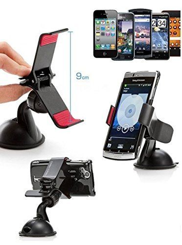 Buy Universal Car Mount Mobile Holder With 360 Degree Rotation Clip online