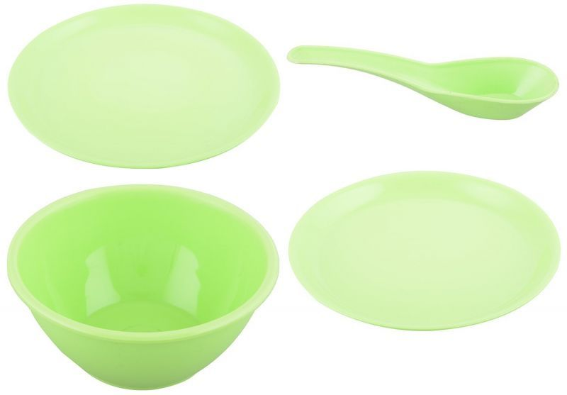 Buy Byc Microwave Safe Plates Bowls Casseroles Green Dinner Set Of 24 PCs online