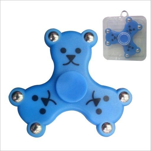 Buy Teddy Face LED Fidget Spinner With Bluetooth Speaker And Memory Card Slot online