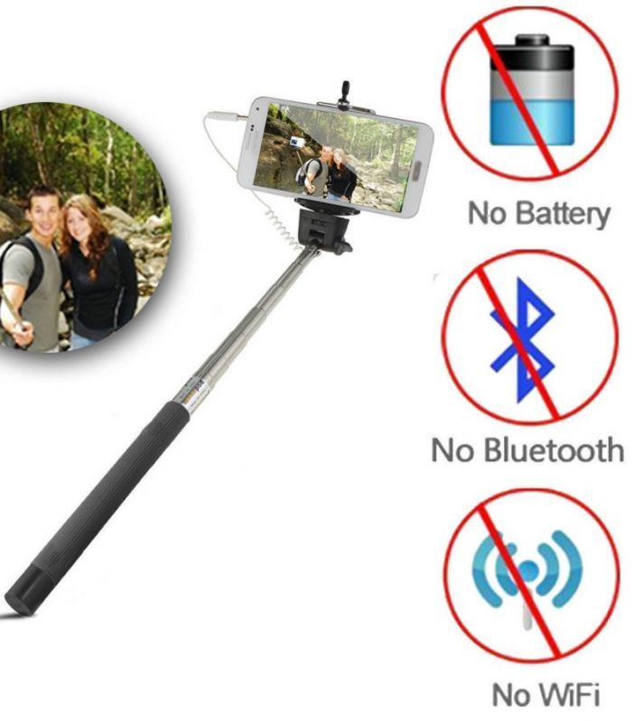 Buy Selfie Stick Monopod Extendable iPhone Samsung Htc Mobile 3.5mm Jack online