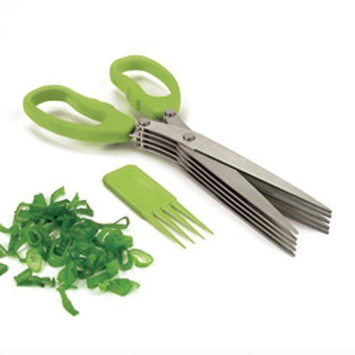Buy Stainless Steel 5 Blade Multi Cut Scissors Sharp Fresh Herb Kitchen Tools online