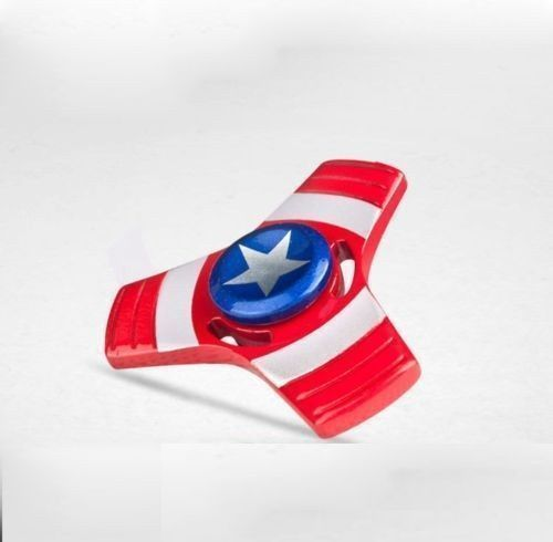 Buy Captain America Iron Spider Man Tri Toys Stainless Steel Metal Hand Spinner Toys Fidget Spinner online