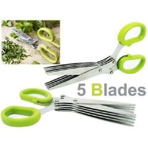 Buy Stainless Steel 5 Blade Multi Cut Sharp Fresh Herb Scissors online