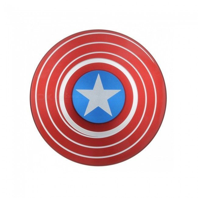 Buy Captain America Shield Fidget Spinner Hand Spinner For Autism And Adhd Kids/adult Funny Anti Stress Toy Mi online