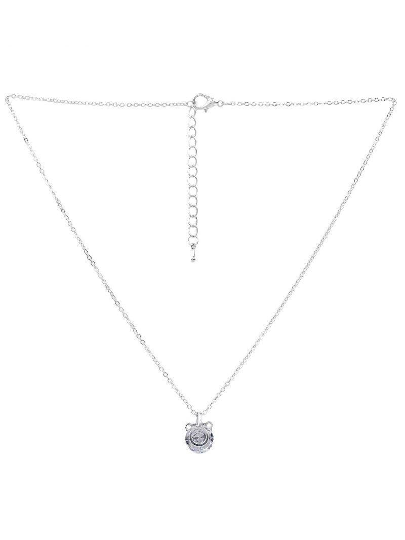 Buy Rubans Silver Neck Chain & Pendant Code- 105482 online