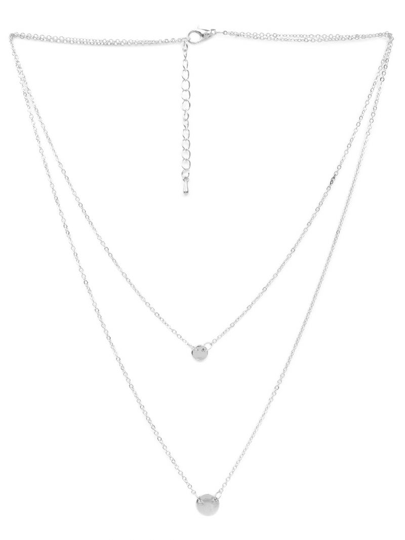 Buy Rubans Silver Neck Chain & Pendant Code- 105485 online