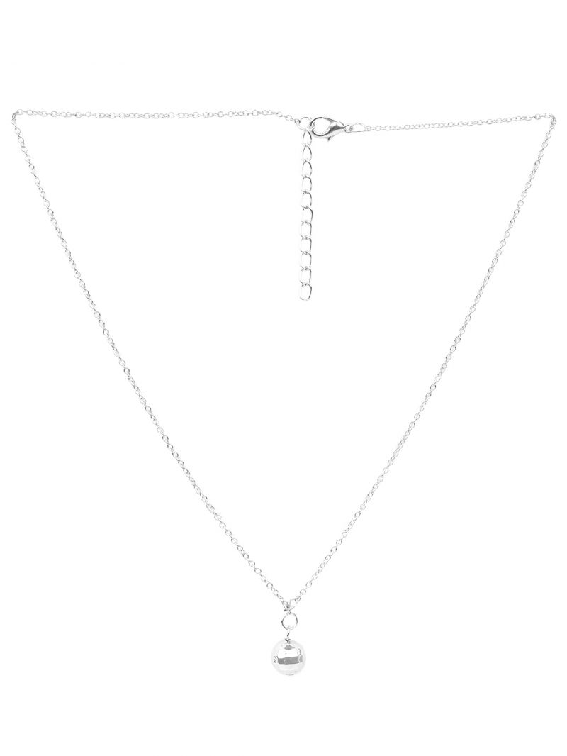 Buy Rubans Silver Neck Chain & Pendant Code- R100013 online
