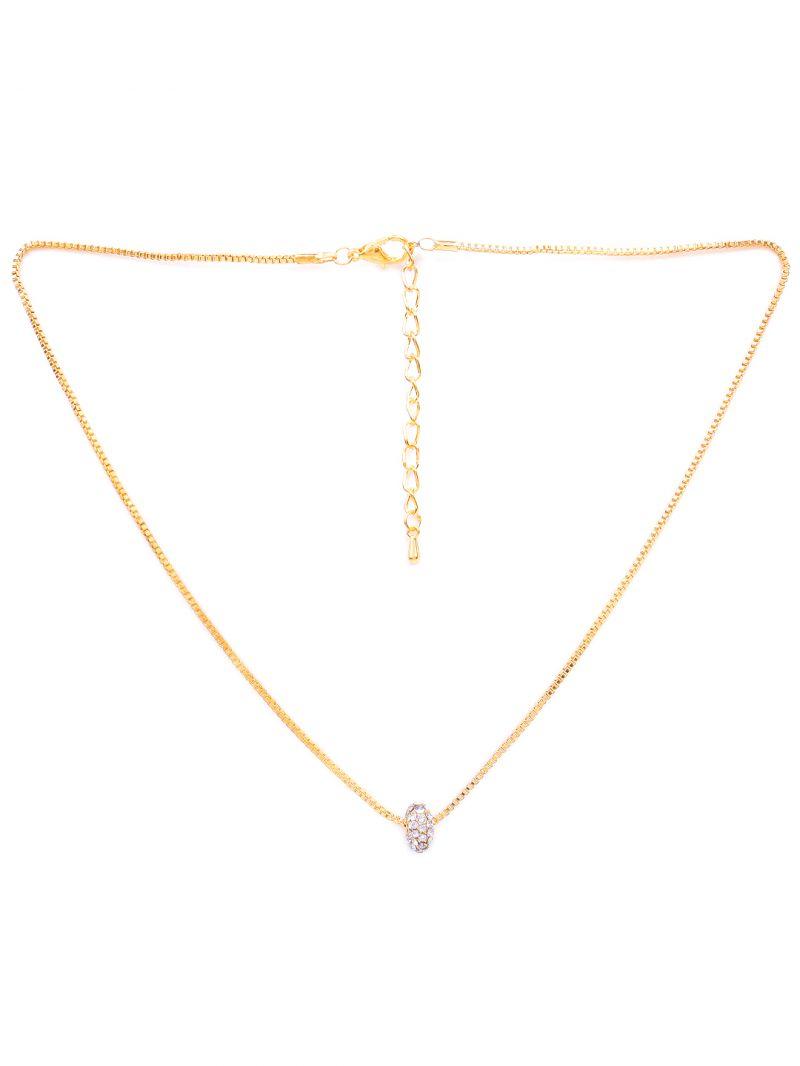 Buy Rubans Gold Neck Chain & Pendant Code- R100017 online