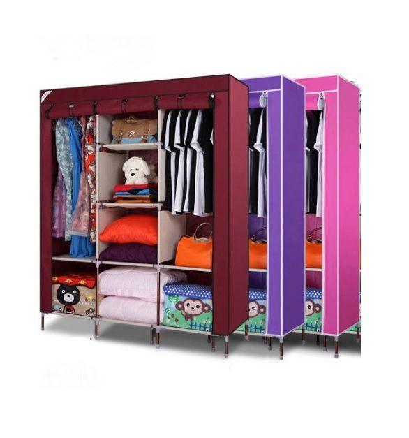 Buy Home Basics 3 Door 88130 Folding Wardrobe Cupboard Almirah Best Quality  online. Buy Home Basics 3 Door 88130 Folding Wardrobe Cupboard Almirah
