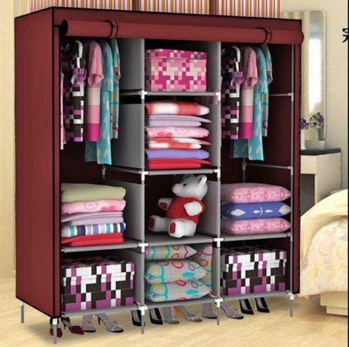Close. Buy Home Basics 3 Door 88130 Folding Wardrobe Cupboard Almirah