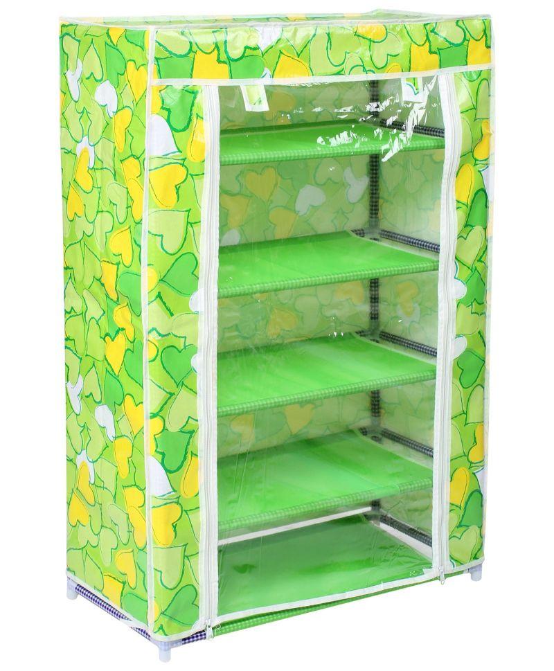 Buy Home Basics 5 Layer Multipurpose Storage Rack Cum Shoe Rack With Cover Cupboard Foldabl online