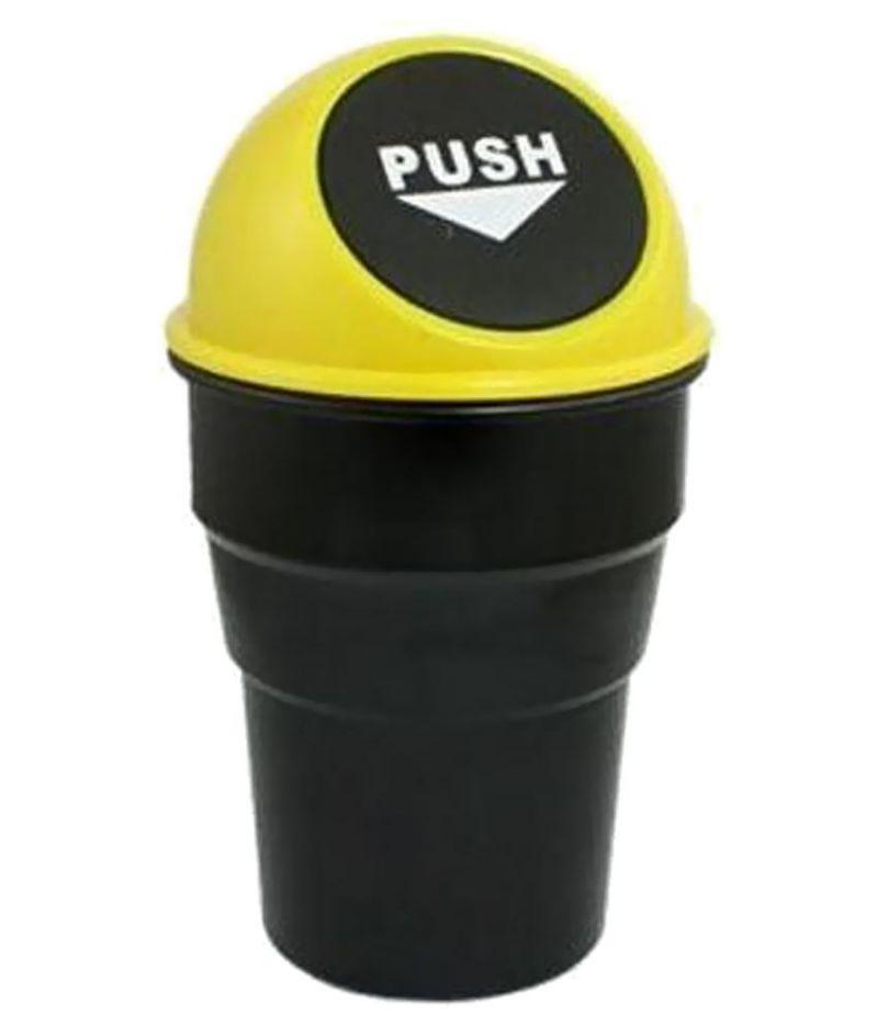 Buy Accessoreez Black & Yellow Plastic Car Trash Bin online