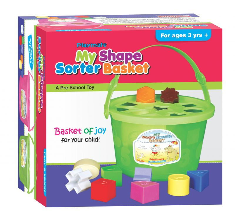 Buy Playmate My Shape Sorter Basket - A Basket Of Joy. Age 2 To 4 Years+ online