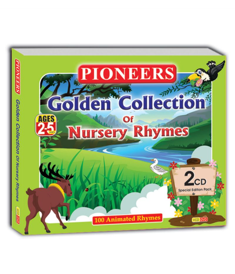 Buy Branded Pioneers - Golden Collection Of Nursery Rhymes 2 Cd's 100 Animated Rhymes Age 2 To 5 Years online