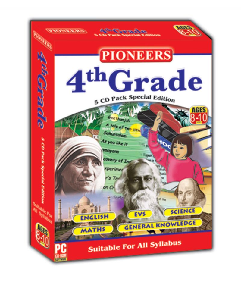 Buy Branded Pioneers Grade- 4 English Evs Science Maths Gk CD (pack Of 5) Universal Syllabus online