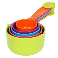 Buy 5 Piece Measuring Spoons Colourful Set. online