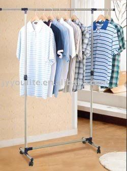 Buy Home Basics Portable Single Pole Telescopic Clothes Rack Clothes Dryer Shoe Rack Wheels online