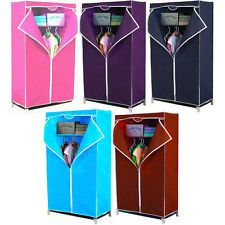 Buy Home Basics Single Canvas Door Foldable Cupboard Wardrobe online