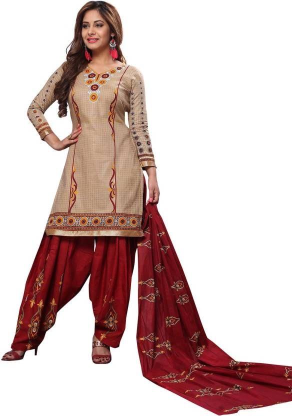f8069bd6fe Buy Elegant Cotton Patiyala Unstitched Dress Material Salwar Suit  (code-balpat1123) online