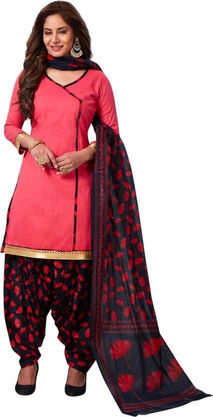 ce492c67df Buy Elegant Cotton Patiyala Unstitched Dress Material Salwar Suit With  Cotton Dupatta online
