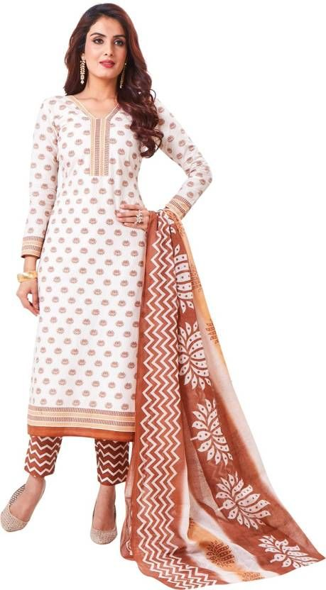 7df16951eb Buy Elegant Cotton Designer Printed Dress Material Salwar Suit With Cotton  Dupatta online