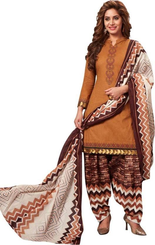 b3eb711566 Buy Elegant Cotton Patiyala Unstitched Dress Material Salwar Suit  (code-p1207) online