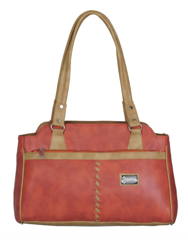 Buy Right Choice Red And Tan Color Handbag online