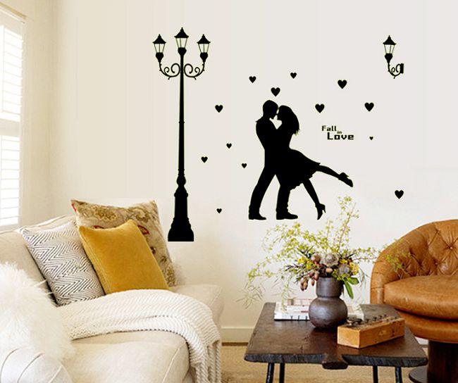 buy radium dancing couple tower glow in dark wall sticker (60 cm x