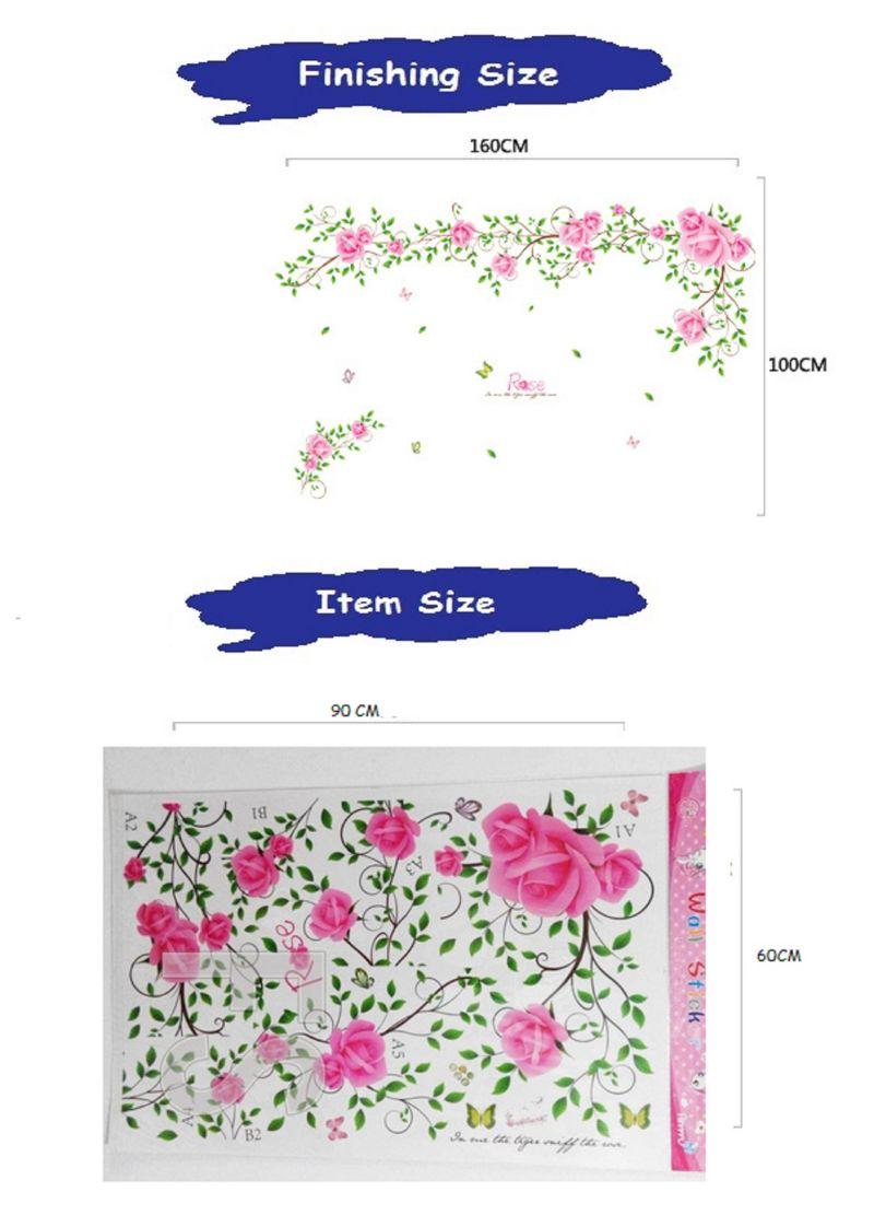 Buy Roses Veil Wall Sticker (60 Cm X 90 Cm) online