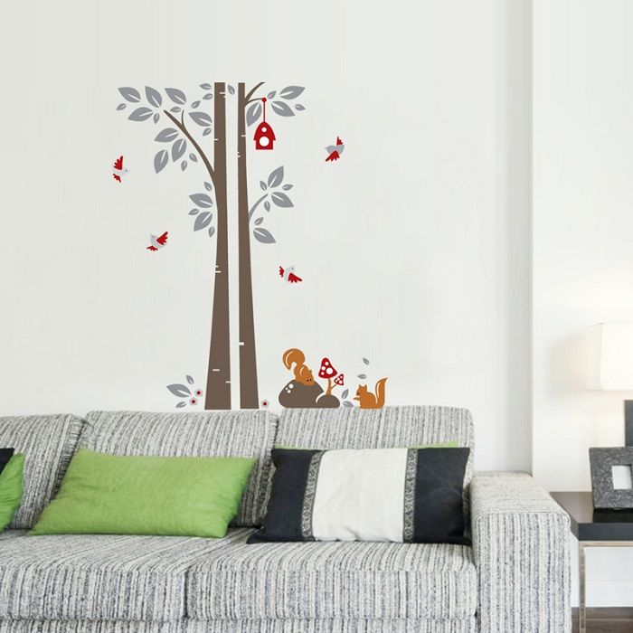 Buy Ay848 Squirrel Under Tree Nature Wall Sticker By Jaamso Royals online