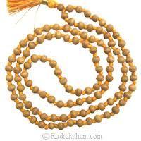 Buy Chandan Wood Mala, White Sandal Mala, White Chandan Mala online