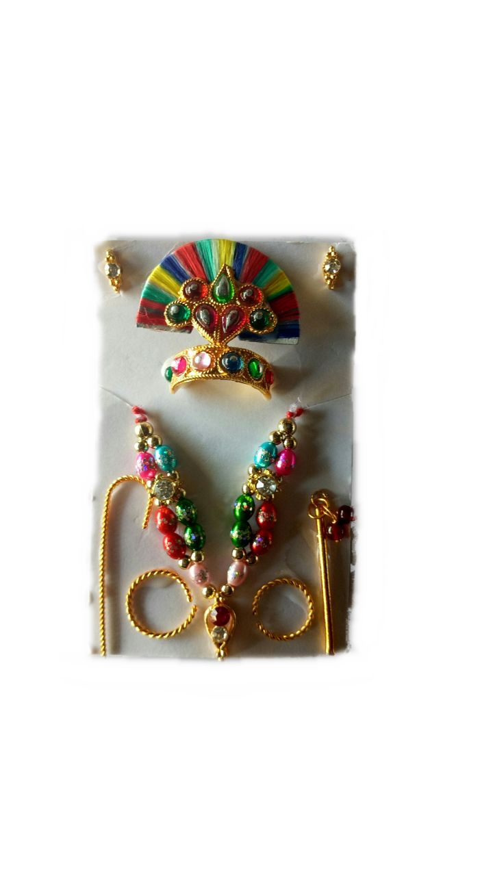 Buy Laddu Gopal Jewellery Set Beautiful Shringar Set online