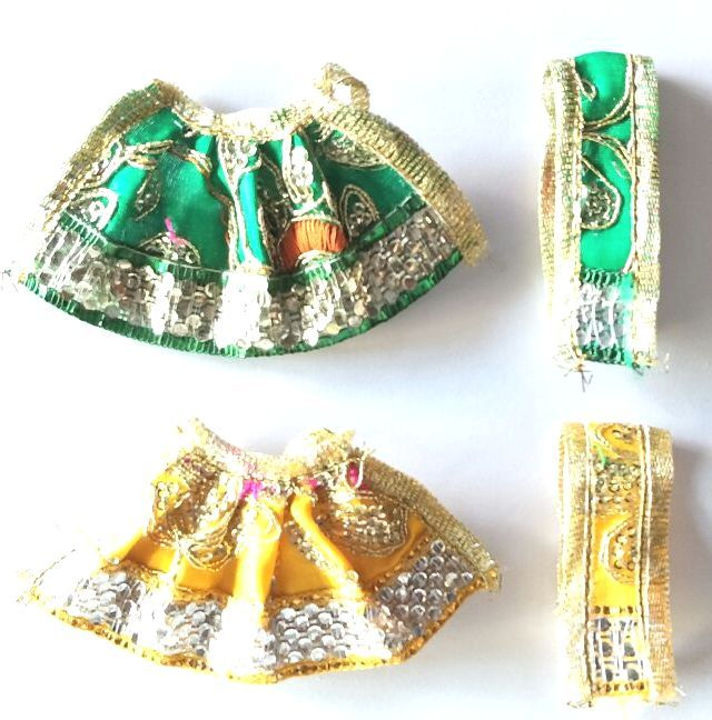 Buy Pretty Lace And Heavy Work Poshak / Lehanga For Mataji / Devi Lehanga Shringar online