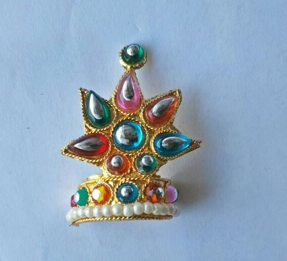 Buy Moti And Beautiful Stone Work Mukut For Thakurji / Mukut For Laddu Gopal online