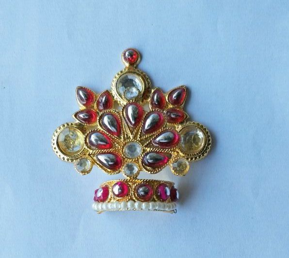 Buy Stone/booti Work Mukut For Laddu Gopal / Mukut Shringar For Bal Gopal online
