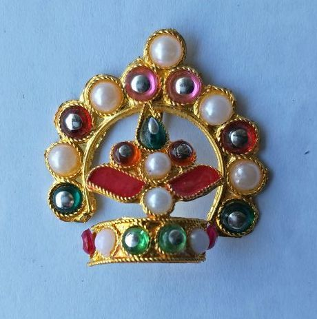 Buy Moti And Stone Work Mukut For Laddu Gopal / Bal Gopa Mukut Shringar online