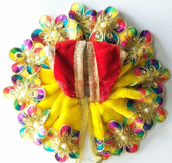 Buy Colourful Flower Work Woolen Poshak For Laddu Gopal / Designer Poshak For Bal Gopal (2 No) online