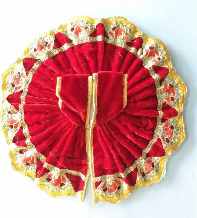 Buy Beautiful Thread Work Woolen Poshak For Bal Gopal / Designer Poshak For Laddu Gopal (6 No) online