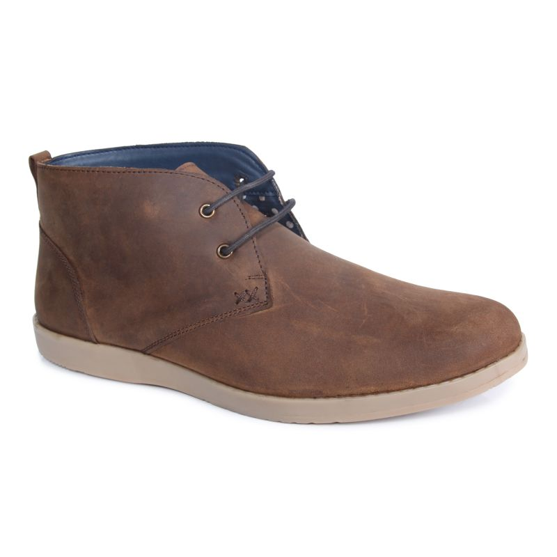 Buy Monkx-casual Leather Boot For Men_bts-002-brown online