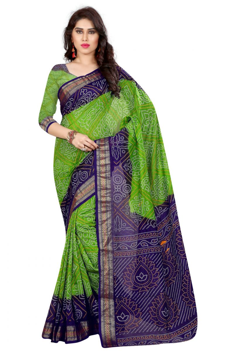 Buy Nirja Creation Green Color Art Silk Saree Nc-td-1037 online