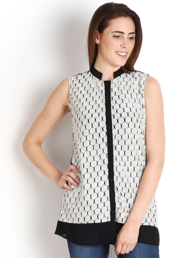 Buy Soie Casual Sleeveless Solid Women