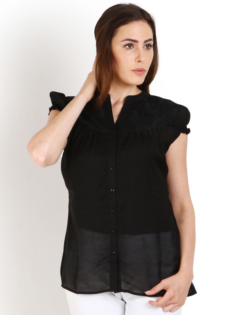 Buy Soie Casual Short Sleeve Solid Women'S Top online