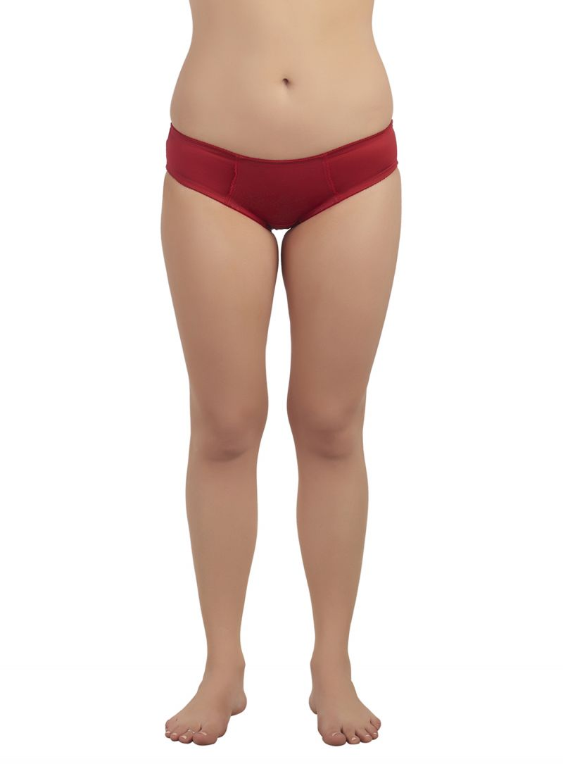 Buy Soie Classic Red Satin Spandex Panty For Women (code - Cp-1310classic_red) online