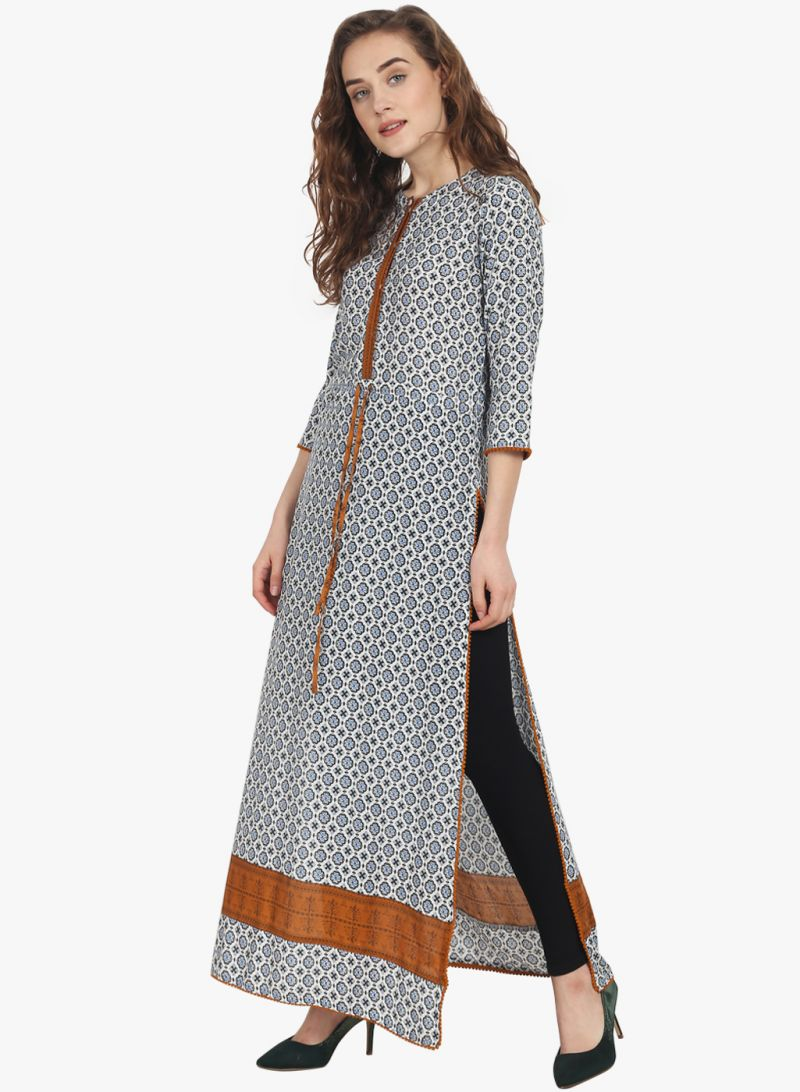 Buy Soie Womens Printed Tunic - (code - 6918brown) online