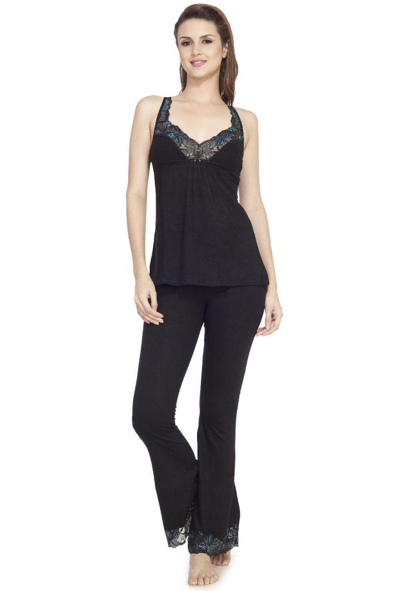 Buy Soie Black Cotton Night Suit For Women Online  f51a110e4b