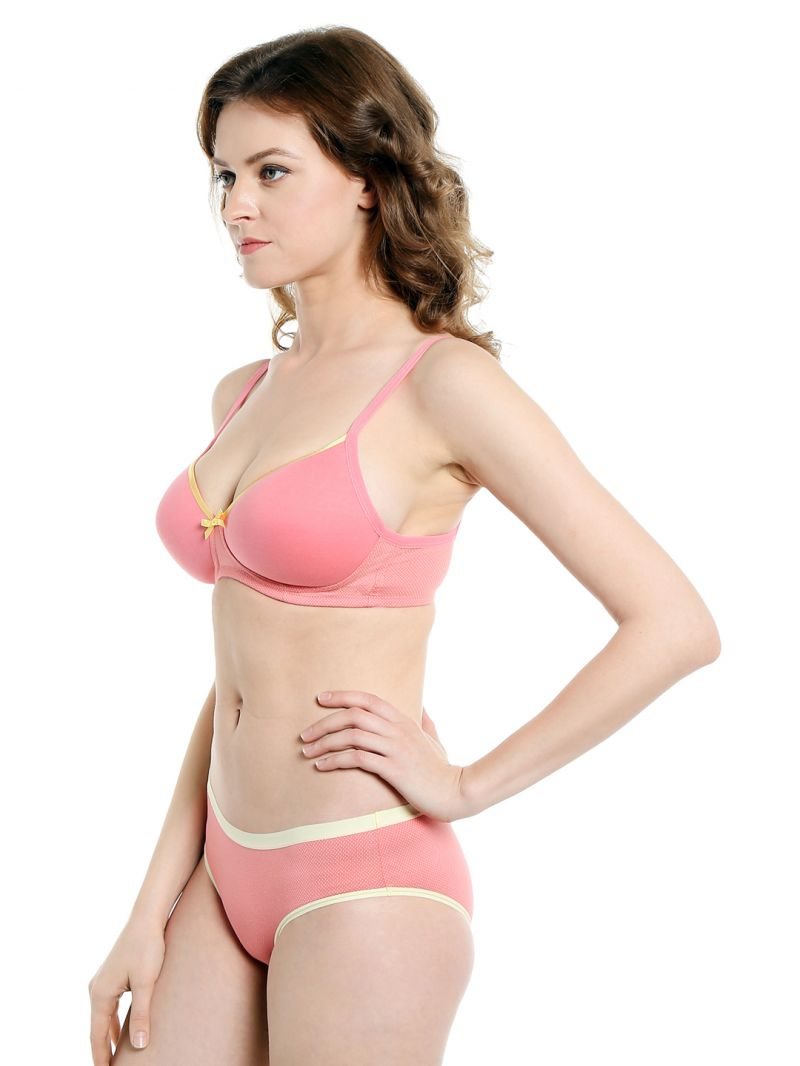 Set candyfloss soie everyday non wired organic cotton padded bra and matching  panty code set candy f5c3f285d
